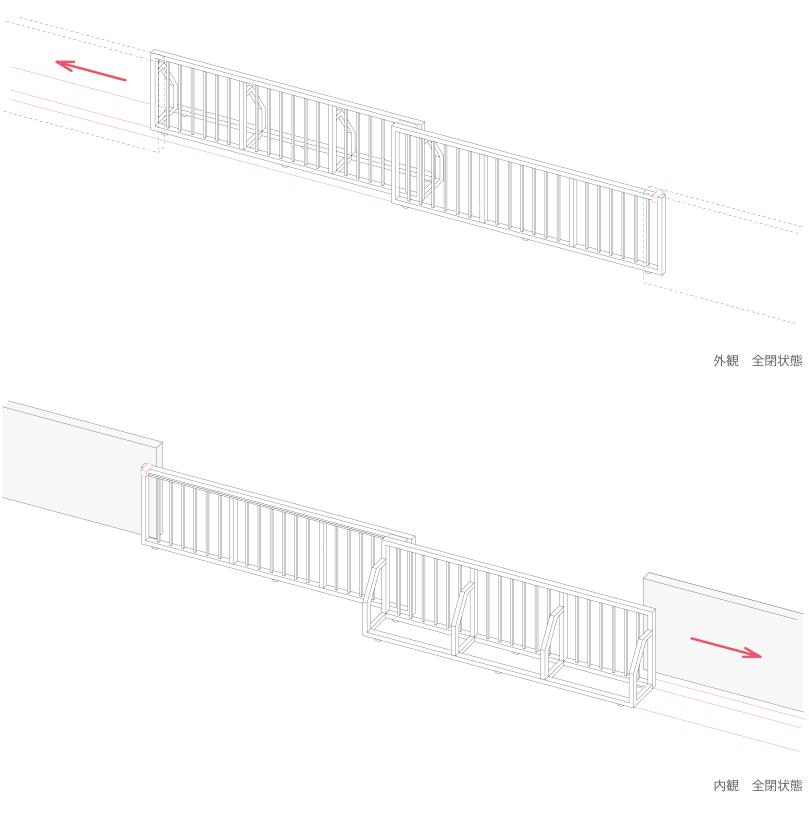 片引ゲート 自立安定器型
